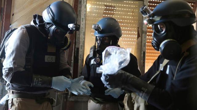 الامم المتحدة تؤكد ان الاسلحة الكيميائية السورية المعلنة دمرت بنسبة 100%